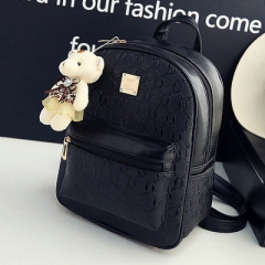 PU74077 New model fashion bear accessory Women Backpack bag set