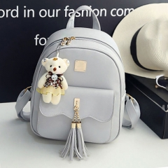 PU74078 2019 New Arrival bear accessory Women Backpack bag set