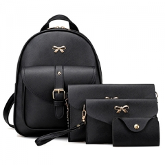 PU74082 New style solid color elegant PU leather Backpack