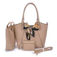 PU2063 Hot Sale Lady Handbag Set 3 in 1 Purse Handbag
