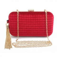 EV136 Hot sale product tassel Suede evening bag for Women