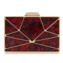 EV142 2019 newest fashion geometric 5 colors acrylic purse marble clutch evening bags for women