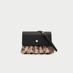 LT1940 Wholesale Design Good Quality Cow Leather Color Collsion Pearl skirt hem Shoulder bag For Women