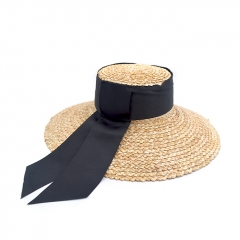 60fe6cef4a79c BC0203 2019 Fashion Women Luxury Design Wheat Straw Beach Sun Hat with Big  Bow