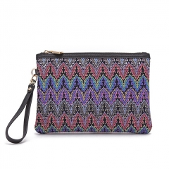 PU2211 2019 Instagram HOT Fashion Knitted printed cloth clutch purse small handbag for women