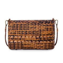 LT1958 Hand-made Cowhide Genuine Leather Handbags Ethnic Woven Fashion Ladies Cross Body Shoulder Bag