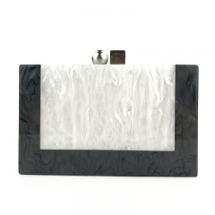 EV165 Fashion Marbel Collision Color Wedding Party Clutch Evening bag purse for Women