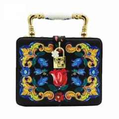 EV167 Europe Style Ceramic Handle Printing Box Women Tote bag