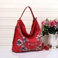 PU2286 2019 New arrival flower printing pu leather fashion handbags shoulder tote bag for women