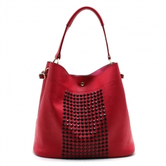 PU2312 European and American new customized design fashion studded handbag large-capacity bucket bag single-shoulder hand bag