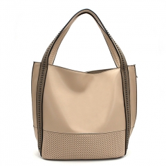 PU2325 Custom new hollow-out style tote shoulder bag fashionable ladies bucket bag manufacturer China