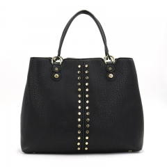 PU2326 2019 new design women's bag fashion handbags high quality pu leather tote shoulder bag with rivet