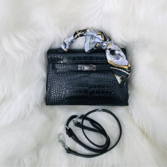 LT1959 New arrival high quality alligator print leather women designer handbag fashion crossbody shoulder bag for ladies