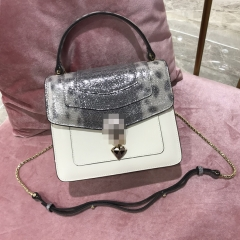 LT1962 Newest silver fashion ladies bags with luxury genuine leather snake head chain handbag manufactures in China 2020