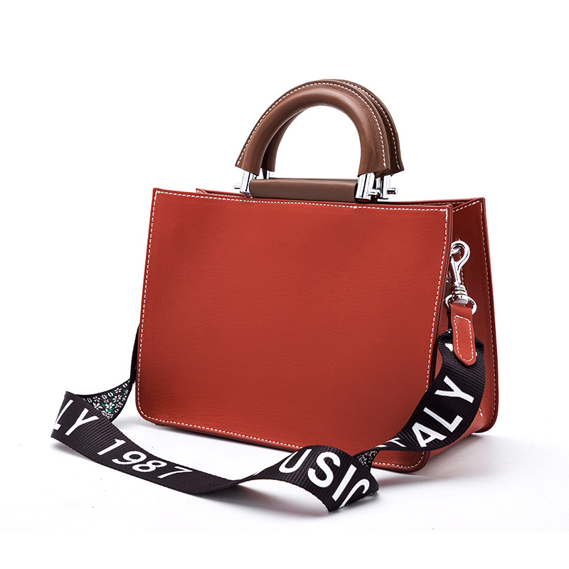 LT2001 High Quality Wide Strap Women Genuine Leather Designer Handbags Tote Ladies Bags