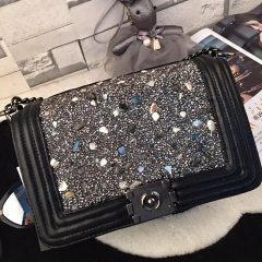 PU2352 2020 New style top quality fashion design bags OEM handbags ladies colored stones shoulder bag for women